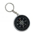 Compass on key holder - diameter ca 4.5