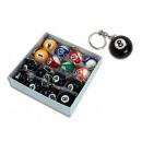 Billiard balls - massive -an Key Chain - d =