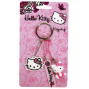 Hello Kitty Pink Roses - 3 Key Chain - c