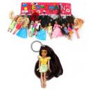 Bambola con i  capelli lunghi su Keychain - ca