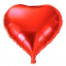 Balloon fólia ballon szív piros kb 62 cm