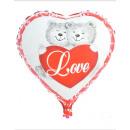 Großhandel Puppen & Plüsch: Luftballon Folienballon Herz Bären ca 45cm