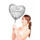 Balloon folie ballon ,Just Married, ca 45 cm
