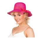 Hut - Strohhut Curacao pink