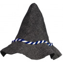 Seppel hat gray with blue-white cord