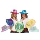 Großhandel Verkleidung & Kostüme: Cowboyhut farbig sortiert