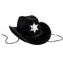 grossiste Jouets: chapeau de cow-boy  avec l'étoile shérif