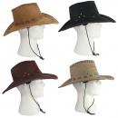 Kowbojski kapelusz 4 kolory mieszany nubuku