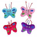 Großhandel Puppen & Plüsch: Schmetterling mit Gesicht 4-fach sortiert - ca 12c