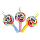 Plush Lolly with smile face 3- times assorted - ap