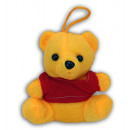 wholesale Dolls &Plush: Bear sitting yellow with red T-Shirt - about 12cm