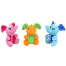 grossiste Jouets: Elephant assis 3 assortis 12 ca cm