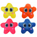 Star with face 4- assorted - ca 22cm