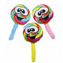 Plush Lolly with a smiley face 3- times assorted -