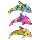 wholesale Dolls &Plush: Dolphin glossy plush 3- times assorted about 25cm