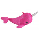 wholesale Dolls &Plush: Narwhal glitter plush pink about 30 cm