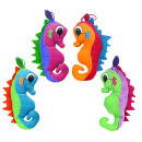 Großhandel Puppen & Plüsch: Seepferdchen 4 farbig sortiert ca 23 cm