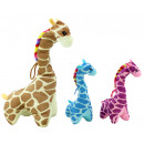 wholesale Dolls &Plush: Giraffe standing 3 colors assorted about 25 cm