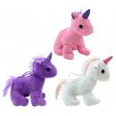 Unicorn standing 3 times assorted - ca 14cm