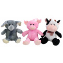 wholesale Toys: Animal 3 times  assorted sitting ca 22 cm