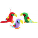 Parrot 3 times assorted ca 33 cm