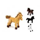 Pferd stehend in 4 Naturfarben sortiert ca 22 c