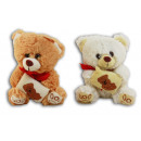 Bear with embroidery on Pillows 2 times assorted -