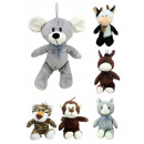 Plush toys 6 sorted times - approx 30cm