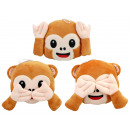 Monkey emoticon 3 assorted 20 cm