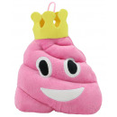 Plush pile pink with crown emoticon 20 cm