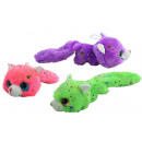 wholesale Dolls &Plush: Cat lying down 3- times assorted Glitter plush - a