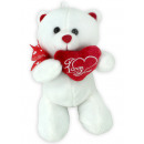 Bear standing with white beticktem heart and loop