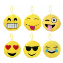 wholesale Cushions & Blankets: Pillows Smilie Emoticon 6- times assorted ca 28 cm