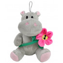wholesale Toys: Hippo with flower sitting about 21 cm
