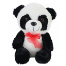 Panda bear with red bow about 22cm