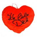Großhandel Geschenkartikel: Herz rot Ich liebe Dich ca 40 cm