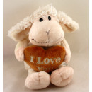 Sheep with brown  heart 'I LOVE YOU' ca 34