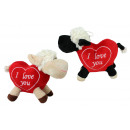 Sheep 2-fold assorted body in heart shape - approx