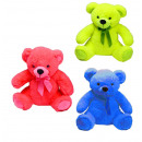 wholesale Toys: Bear neon with glitter eyes 3- times assorted - ab