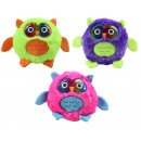 Großhandel Puppen & Plüsch: Plüsch Eule in 3 Neonfarben sortiert ca 20 cm