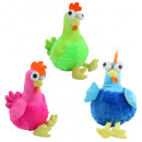 Chicken with thick eyes 3 colors assorted sitting