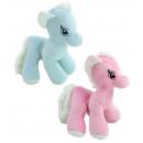 Großhandel Puppen & Plüsch: Pferd stehend rosa und blau sortiert - ca 26 cm