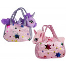 wholesale Dolls &Plush: Unicorn in a carry bag, two colors assorted approx