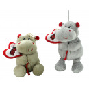 wholesale Toys: Hippo 2- assorted with heart - ca 29cm