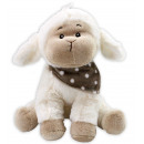 Großhandel Tücher & Schals: Schaf sitzend mit gepunktetem Halstuch - ca 23 cm