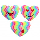 Heart rainbow colored 3 times assorted ca 38 cm