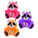 Raccoon 3- times assorted with glitter eyes about