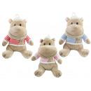 Großhandel Puppen & Plüsch: Nilpferd Funny Hippo 3-fach sortiert ca 30 cm
