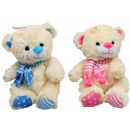 wholesale Toys: Bear sitting 2  fold sorted with scarf - ca 29cm