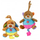 wholesale Baby Toys: Plush musical toy  dog ​​and bear by ca 20 cm